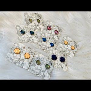Custom personalized glitter earrings